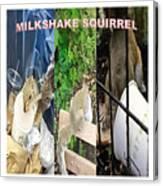 The Original Official Milkshake Squirrel Canvas Print