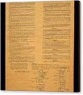 The Original United States Constitution Canvas Print