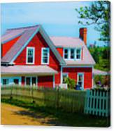 The Other Red House Monhegan Canvas Print