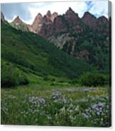 The Other Side Of Maroon Bells 1 Canvas Print