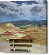 The Overlook At Painted Hills In Oregon Canvas Print