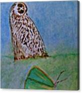 The Owl And The Butterfly Canvas Print