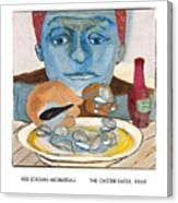 The Oyster Eater Canvas Print