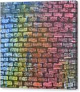 The Painted Brick Wall  Canvas Print