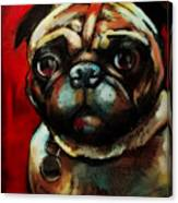 The Painted Pug Canvas Print