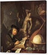 The Painter In His Workshop 1647 Canvas Print