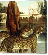 The Palace Guard With Two Leopards Canvas Print
