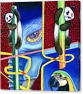The Pandas Canvas Print