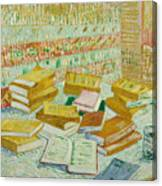 The Parisian Novels Or The Yellow Books Canvas Print