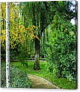 The Park Federico Garcia Lorca Is Situated In The City Of Granada, In Spain. Canvas Print