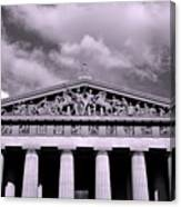 The Parthenon In Nashville Tennessee Black And White Canvas Print
