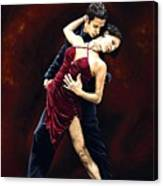 The Passion Of Tango Canvas Print