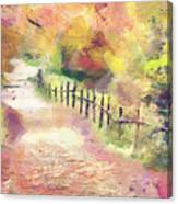 The Path In Autumn Canvas Print