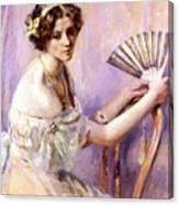 The Pearl Fan Canvas Print