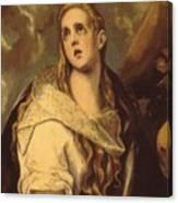 The Penitent Magdalene 1578 Canvas Print