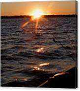 The Perfect Ending - After A Good Day Of Fishing Canvas Print