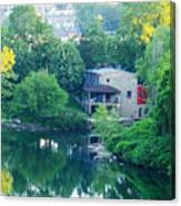 The Philadelphia Canoe Club At The Mouth Of The Wissahickon Canvas Print