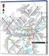 The Philadelphia Pubway Map Canvas Print