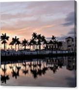 Reflecting Palms At The Pier 22 Canvas Print