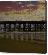 The Pier At Sunset Canvas Print