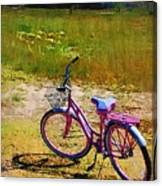 The Pink Bike Canvas Print