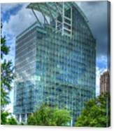 The Pinnacle Reflections Office Buildings Buckhead Atlanta Art Canvas Print