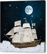 The Pirate Ghost Ship Canvas Print