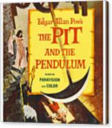 The Pit And The Pendulum, 1961 Canvas Print