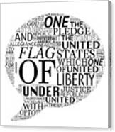 The Pledge Canvas Print