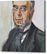 The Poet Demetrius Vikelas Canvas Print