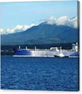 The Polar Resolution Oil Tanker Port Angeles Harbor Wa Canvas Print