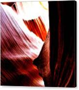 The Polished Rocks Of Lower Antelope Canyon Canvas Print