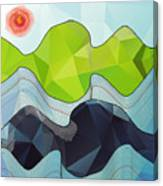 The Poly Landscape Canvas Print
