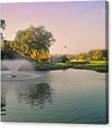 The Pond Fountain Canvas Print