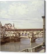 The Pontevecchio - Florence  Canvas Print
