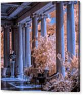 The Porch Of The European Collection Art Gallery At The Huntington Library In Infrared Canvas Print