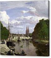 The Port At Quimper Canvas Print
