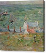 The Port Of Gorey On Jersey Canvas Print