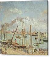 The Port Of Le Havre In The Afternoon Sun Canvas Print