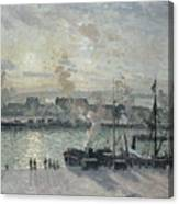 The Port Of Rouen Canvas Print