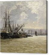 The Port Of Rouen Canvas Print