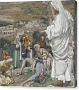 The Possessed Boy At The Foot Of Mount Tabor Canvas Print