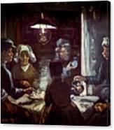 The Potato Eaters, By Vincent Van Gogh, 1885, Kroller-muller Mus Canvas Print