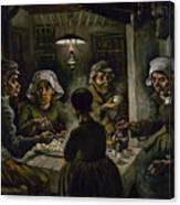 The Potato Eaters Canvas Print