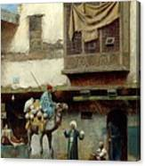 The Pottery Seller In Old City Canvas Print