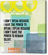 The Power To Speak- Contemporary Jewish Art By Linda Woods Canvas Print