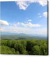 The Presidential Range From The Watchtower At Weeks State Park Canvas Print