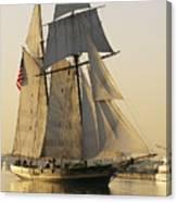 The Pride Of Baltimore Clipper Ship Canvas Print