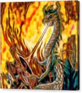 The Prince Battles The Dragon Canvas Print