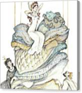 The Princess And The Pea, Illustration For Classic Fairy Tale Canvas Print